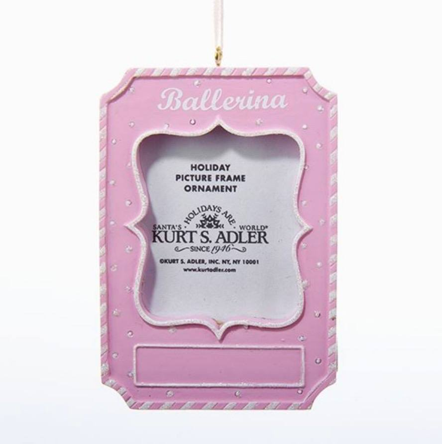 Gifts - Ballerina Picture Frame Ornament