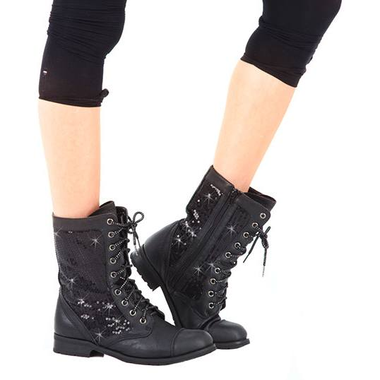 Hip Hop Sneakers - Kombat Sequin Boot - Adult