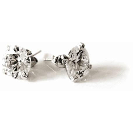 Jewelry - 12MM Clear Pierced Stud Earrings