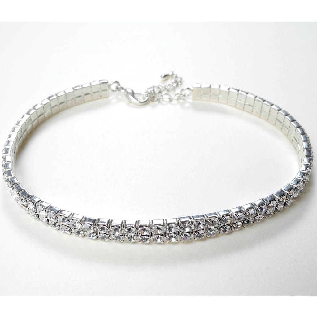 Jewelry - 2 Row Choker - Clear- Child