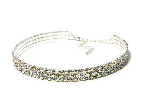 Jewelry - 3 Row Choker - AB - Adult