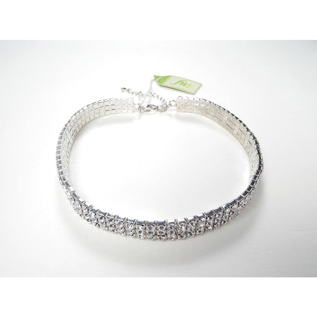 Jewelry - 3 Row Choker - Clear - Chld