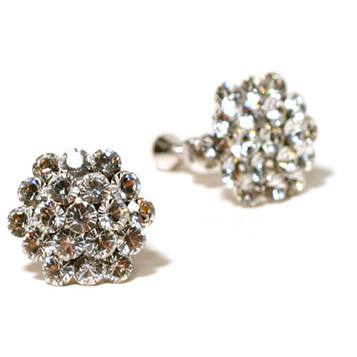 Jewelry - Clear Cluster Clip On Earrings