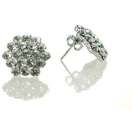 Jewelry - Clear Cluster Pierced Earrings
