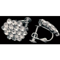 Jewelry - Cluster Clear Clip-On Earring