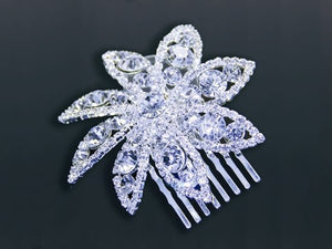 Jewelry - Crystal Flower Hair Comb