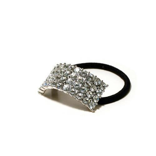 Jewelry - Four Row Rhinestone Ponytail Holder