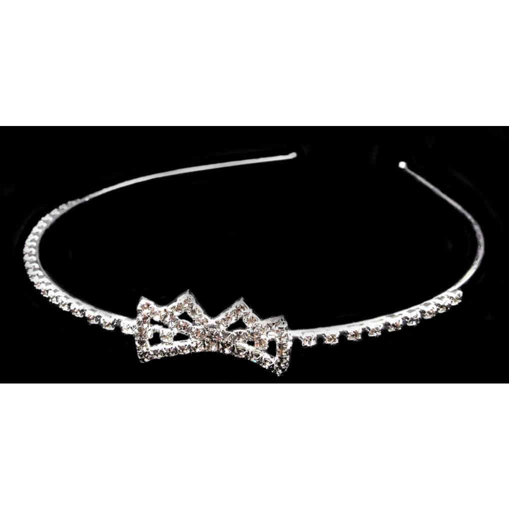 Jewelry - Rhinestone Hairband With Bow