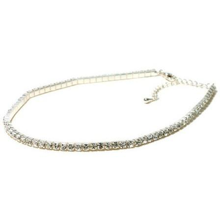 Jewelry - Single Row Choker - Clear - Child