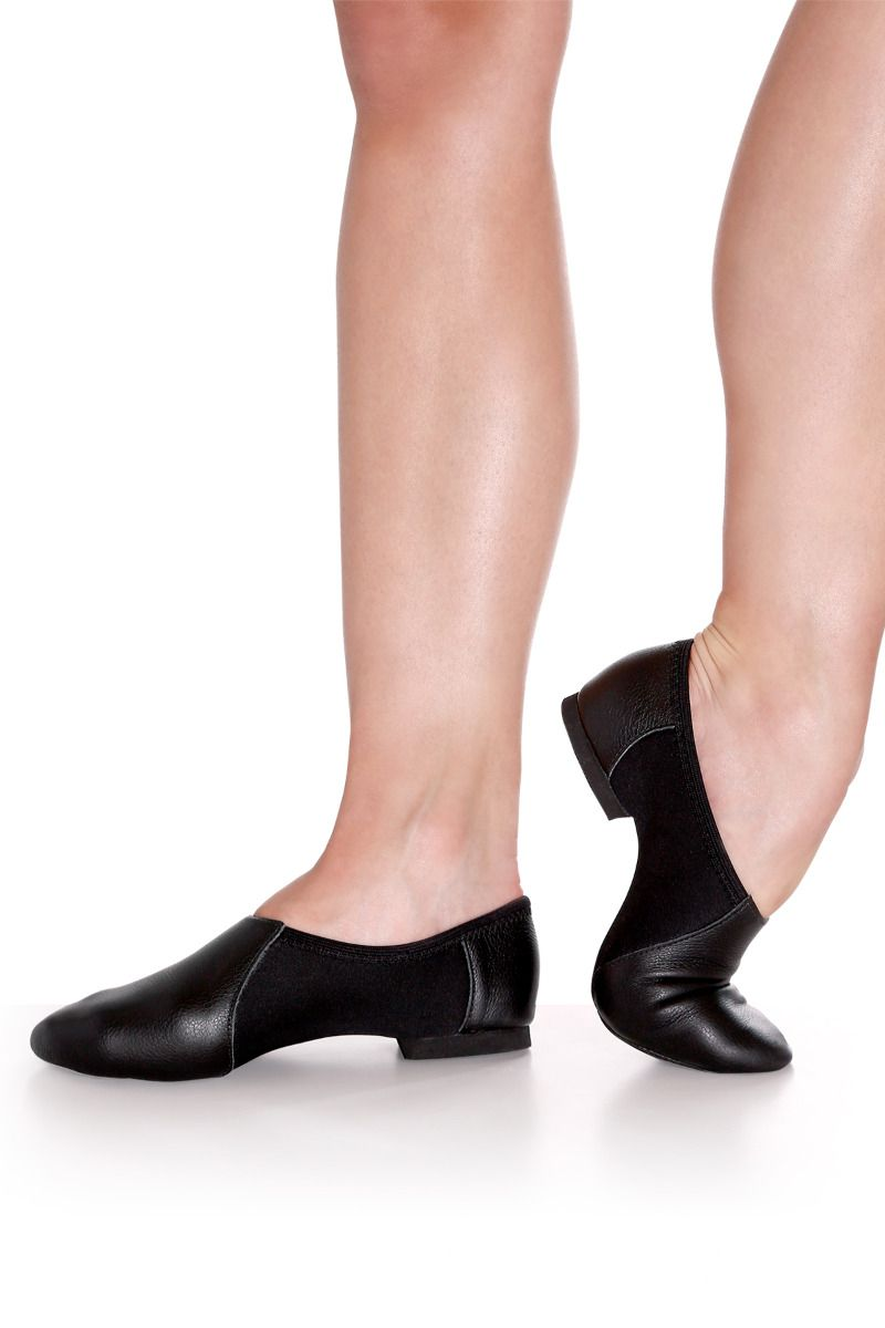 Low Cut Jazz Shoe with Neoprene Insert - Adult