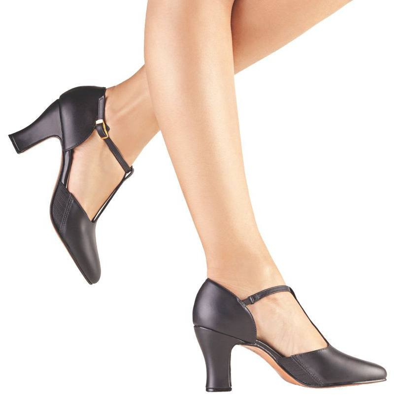 "Lyrical And Character Shoes - T Strap Character Shoe With 3"" Heel"