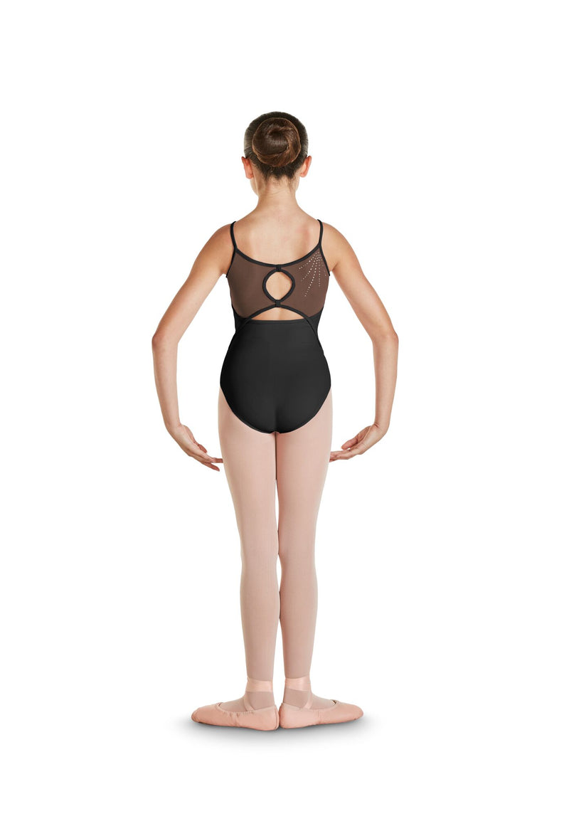 Keyhole Mesh Back Leotard - Child