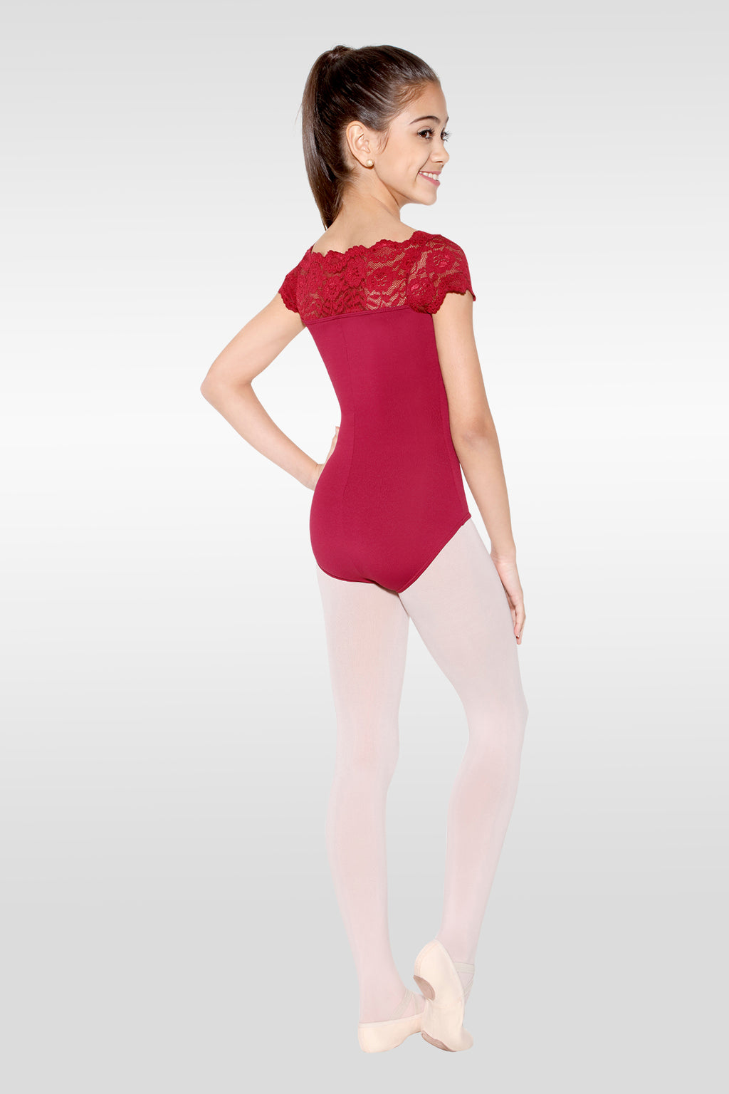 Lace Boatneck Leotard - Child