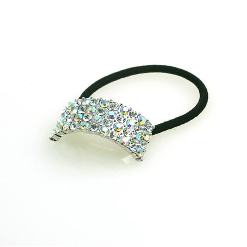 Performance Accessories - Four Row AB Rhinestone Ponytail Holder