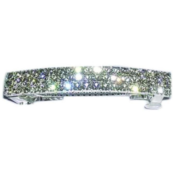 Performance Accessories - Three Row Rhinestone Barette - Clear