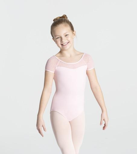 Swiss Dot Cap Sleeve Leotard - Child