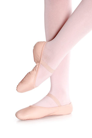 Leather Ballet Slipper with Full Sole