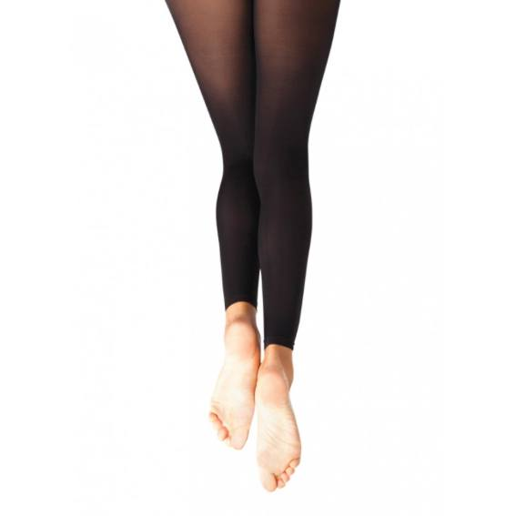 Tights - Footless Tight With Self Knit Waistband - Child