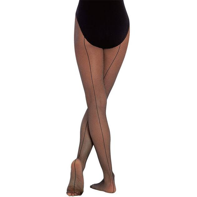 Tights - Seamed Fishnet Tights