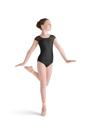 Embroidered Back Cap Sleeve Leotard - Child