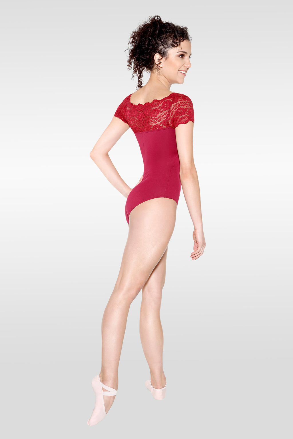 Lace Boatneck Leotard - Adult