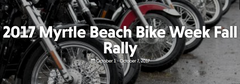 Myrtle Beach Bike Week Fall Rally October 2017