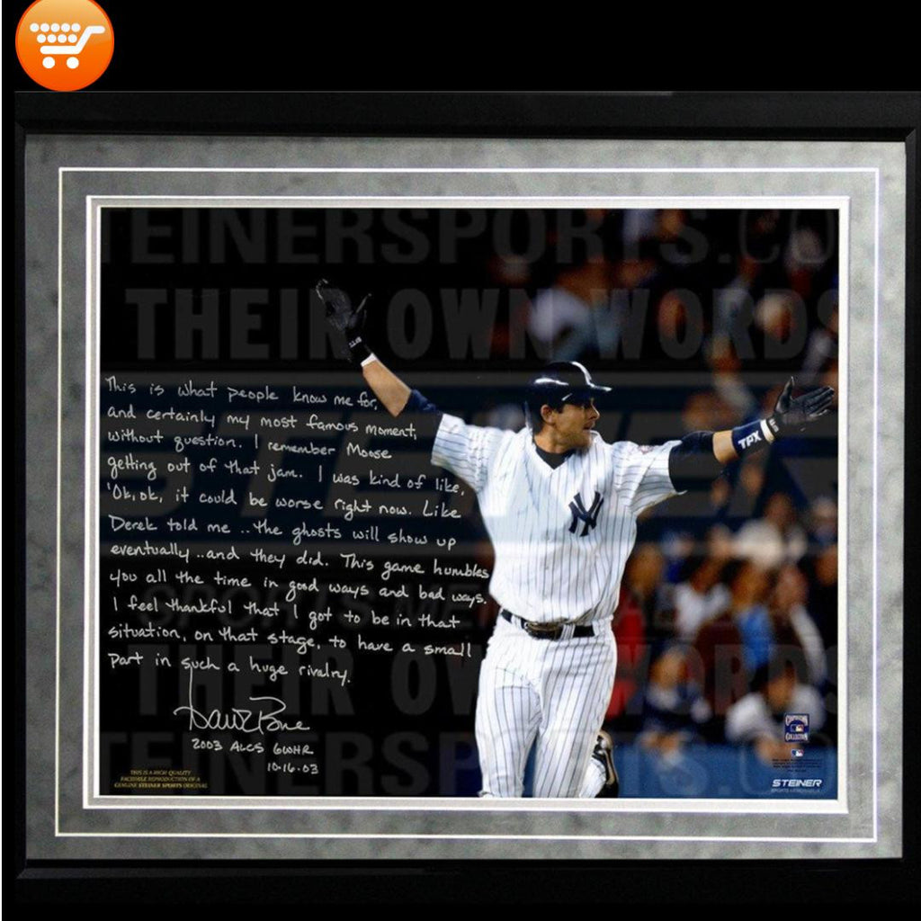 Aaron Boone Facsimile 2003 ALCS Game 7 Walk-Off Framed Metallic - Bargain Love