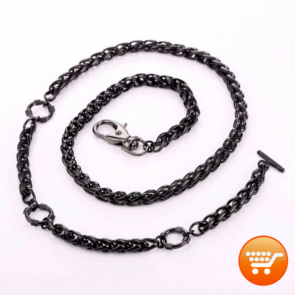 Stainless Steel Biker Wallet Chain - Bargain Love