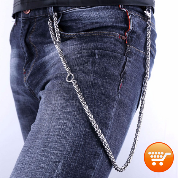 Stainless Steel Biker Wallet Chain