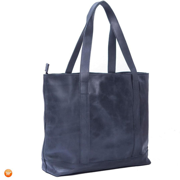 Black Handcrafted Leather Tote - Bargain Love