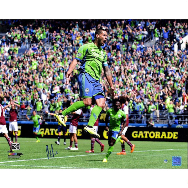 Clint Dempsey Hand-Signed Seattle Sounders Celebration 16x20 Photo - Bargain Love