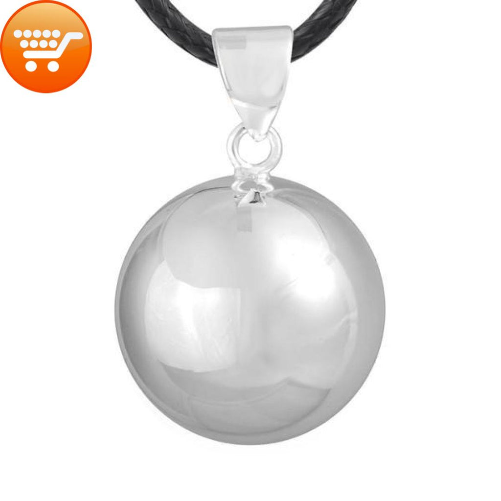 silver pregnant necklace of deep meaning hommeg with jewel ball woman bola pregnancy