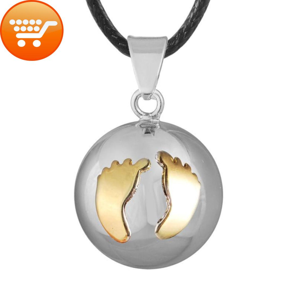 pregnancy necklace jewelry ball gold en ilado caller joy angel harmony pink home