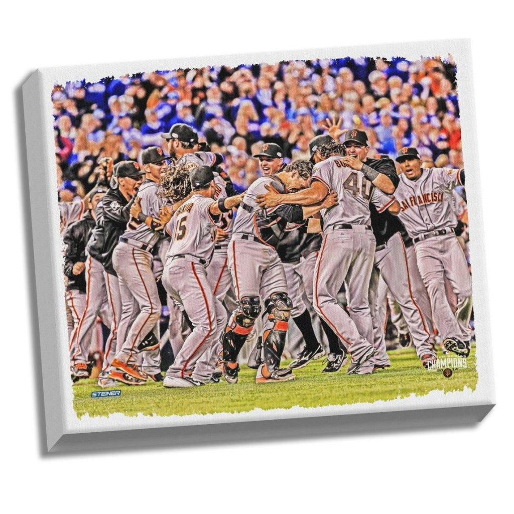 San Francisco Giants 2014 World Series Champions 32x40 Celebration Canvas - Bargain Love