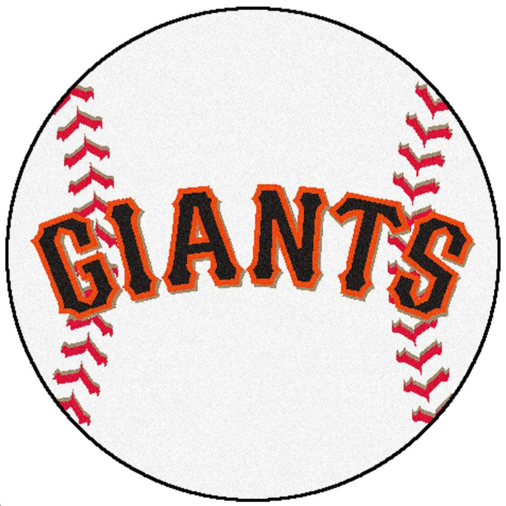 "sf giants baseball-shaped area rug 27"" diameter – bargain love"