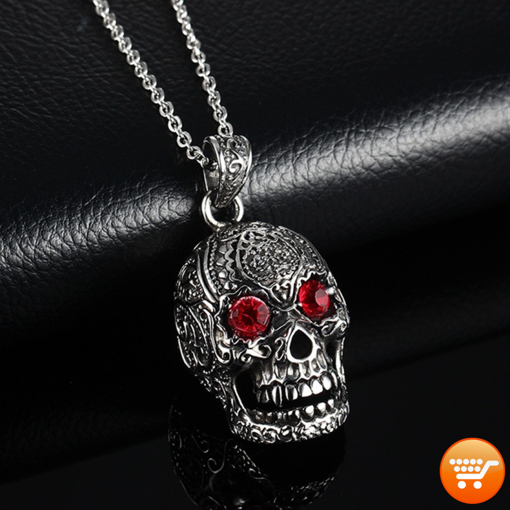 necklaces dod amazon silver sugar dp color com pendant pewter skull jewelry