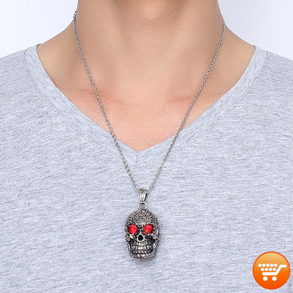 Sugar Skull Pendant Necklace - Bargain Love