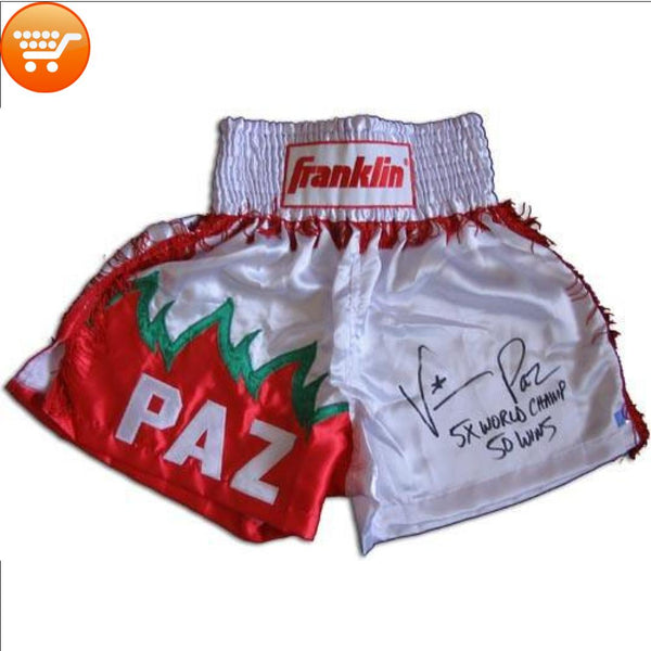 Vinny Paz Signed Custom Boxing Trunks - Bargain Love