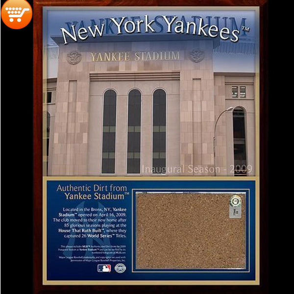 Authentic Yankee Stadium Original Dirt Plaque - Bargain Love