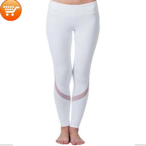 Women's Full Length Mesh Yoga/Sports Activewear - Bargain Love