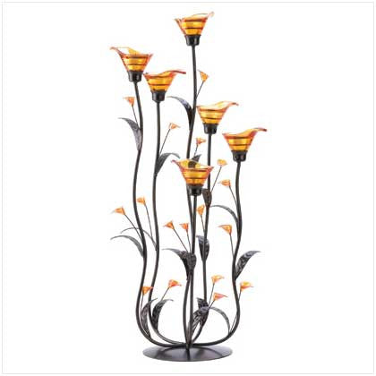 Amber Lilly Candleholder - Bargain Love