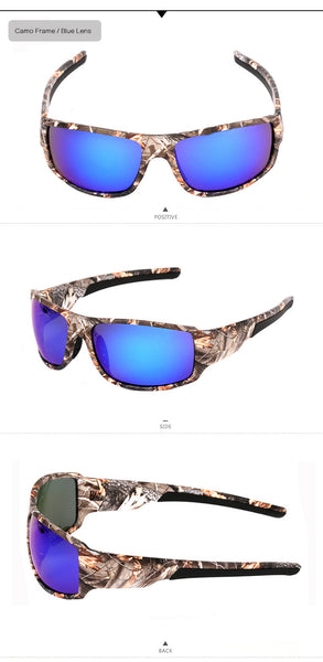 Camouflage and Solid Polarized Sports Sunglasses - Bargain Love