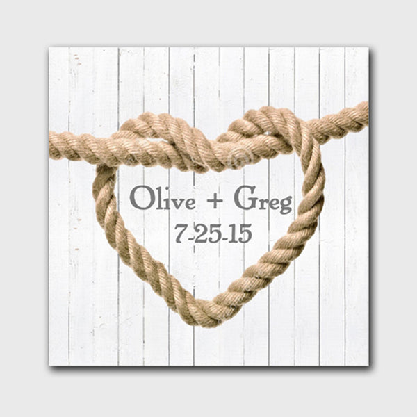 Knot Canvas Sign - White Wood Background Design - Bargain Love