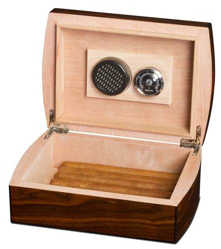 Polished Walnut-Finished Cigar Gift Set