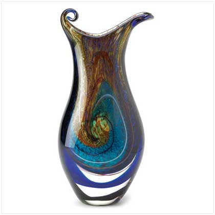 Stunning Galaxy Art Glass Vase - Bargain Love