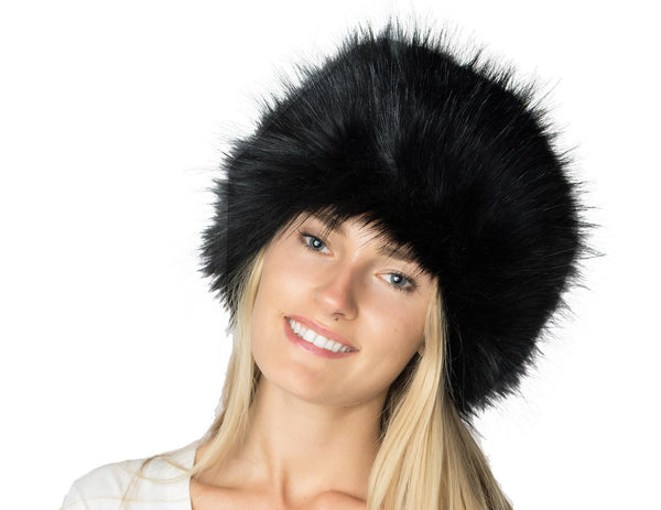 Faux Fox Fur Russian Pillbox Cossack Hat - Bargain Love