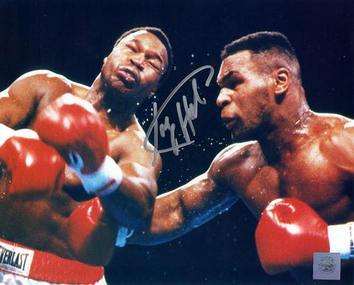 Mike Tyson Vs Larry Holmes Signed Photo
