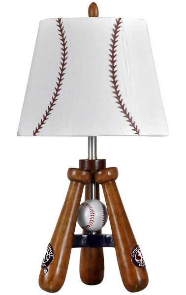 Baseball Accent Lamp With Matching Stitched Shade - Bargain Love