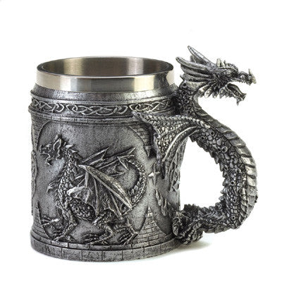 Medieval Serpentine Dragon Mug - Bargain Love