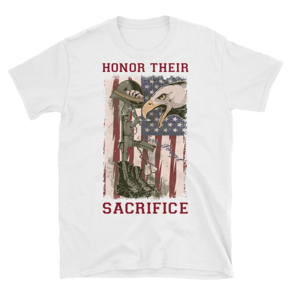 Honor Their Sacrifice Mens T-Shirt - Bargain Love